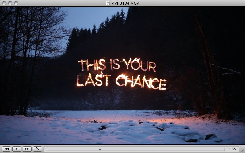 This is Your Last Chance